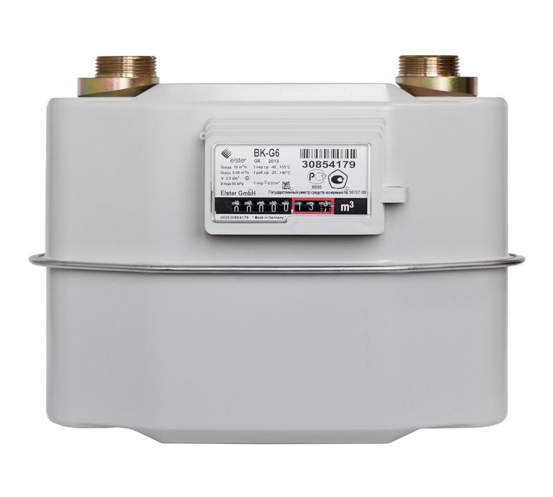Счетчик газовый бытовой ВК G-6/ BKG-6T